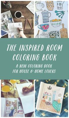 The Inspired Room Home Decorating Coloring Book - Interior Design Adult Coloring Book