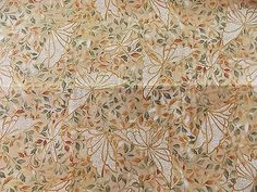 WtW Estate Fabric Kona Bay Butterfly Dragonfly Nature Leaf BTY 2006 Garden Quilt
