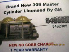 camaro 309 master cylinder GM licensed 5462309