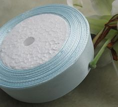 Chenkou Craft 50Yard 2roll 50 Color Satin Ribbon 25mm DIY Craft Wedding Supply Ornament ** Check out the image by visiting the link.