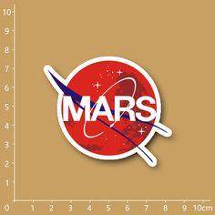 Nasa Mars Rescue logo Notebook/refrigerator/skateboard/trolley case/backpack/Tables/book PVC sticker  #backpack #kids #highschool #fashion #shoulderbags #YLEY #handbags #bag #L09582 #Happy4Sales