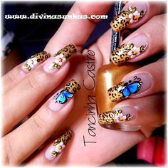 UNHAS DECORADAS COM A DESIGNER ESTREANTE TANCINHA Fabulous Nails, Perfect Nails, Fancy Nails, Love Nails, Simple Nail Art Designs, Nail Designs, Stylish Nails, Beautiful Nail Art, Gel Manicure