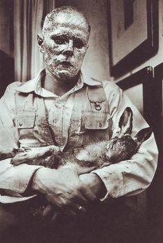 Wie man dem toten Hasen die Bilder Erklärt (How to Explain Pictures to a Dead Hare), Joseph Beuys; November 26 1965