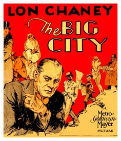 Image result for lon chaney the big city movie poster