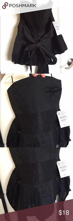 NEW ZARA shoulder FREE black top size S BRAND NEW !  NEW ZARA shoulder FREE black top SIZE S! Zara Tops Crop Tops