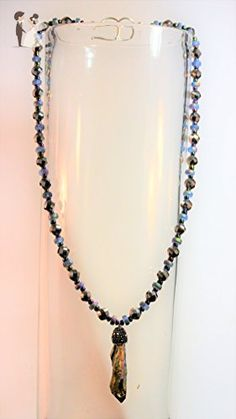 Dichroic Kyanite & Iridescent Crystal Necklace - Wedding nacklaces (*Amazon Partner-Link)