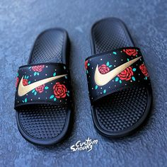 Buy urban style clothing and accessories online Sneakers Mode, Sneakers Fashion, Fashion Shoes, Shoes Sneakers, Nike Slides, Nike Sandals, Floral Sandals, Fresh Shoes, Pretty Shoes