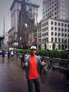 Sergio Ramos, de turismo por Nueva York en 2013. #seleccionespanola #LaRoja #diariodelaroja