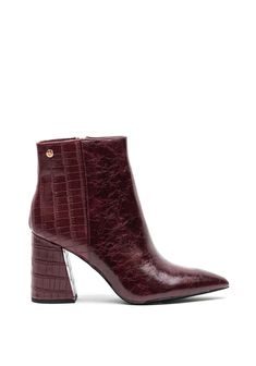 High Heel Boots, Heeled Boots, High Heels, Envy, Burgundy, Booty, Ankle, Shoes, Fashion