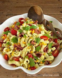 Pesto, Pepper & Sopressato Pasta Salad - thecafesucrefarine.com