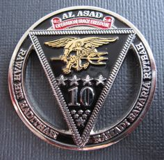 Seal Team 10 Military Rule, Military Ranks, Military Special Forces, Military Units, Military Insignia, Security Badge, Us Navy Seals, Coin Display, Challenge Coins