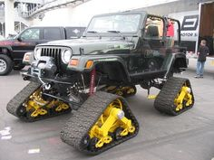 Jeep Wrangler TJ With tracks  This is a great ORV