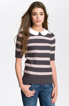 Peter Pan Collar Stripe Sweater