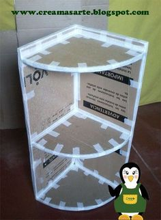 Ideas Craft Paper Storage Diy Projects For 2019 Cardboard Organizer, Craft Paper Storage, Cardboard Storage, Cardboard Box Crafts, Diy Storage Boxes, Cardboard Playhouse, Cardboard Paper, Diy With Cardboard Boxes, Cardboard Display