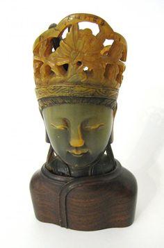 Chinese Horn Carved Buddha/Bodhisattva