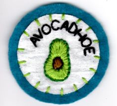 Avocadhoe Patch by mittenfingerz on Etsy