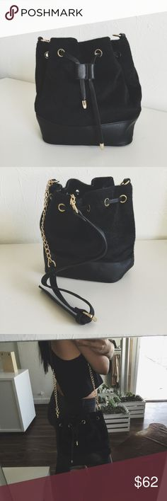 "N e w • Stockholm Bucket Bag • No trades. No offers. Comes with two handles that can be removed/switched out (a long one for shoulder and a small one for handbag style). Interior is fully black. Has 3 inside pockets and comes with a dust bag to keep in for care. • If you have any general questions about shopping with me please see my ""FAQ's & Closet Info"" listing - If you would like to be notified of my new arrivals and restocks tag yourself in ""My Updates List • Bags Crossbody Bags"