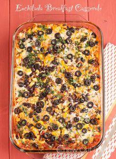 Enchilada Breakfast Casserole - looks yum....