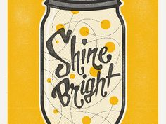 Cool lettering in a jar! With fireflies.