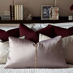Feminine cushion detail in our earlier One Hyde Park bedroom.