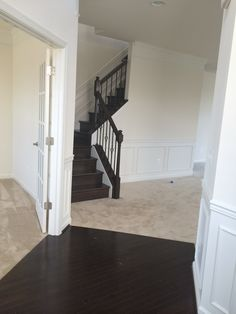 Stained Oak Staircase With Upgraded Iron Spindles