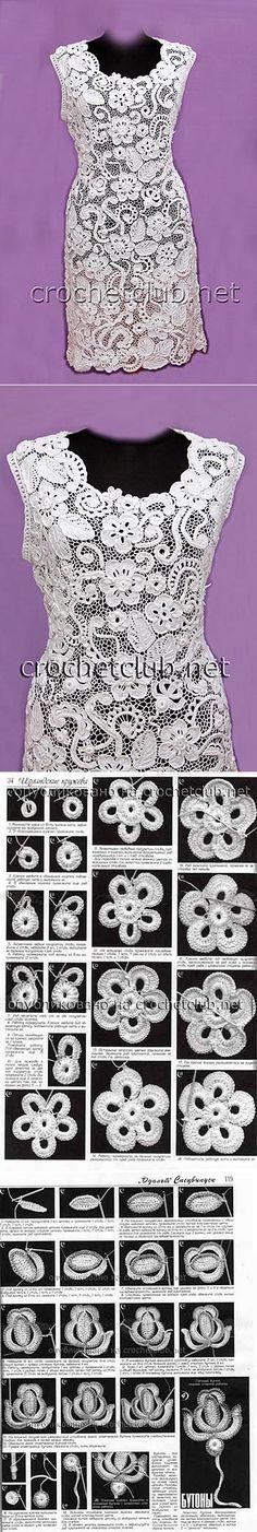 Платье белое — ирландское кружево - Вязание Крючком. Блог Настика