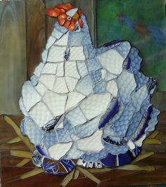 This Little Hen by the inimitable CandyNT! Mosaic Crafts, Mosaic Projects, Mosaic Art, Mosaic Glass, Art Projects, Mosaic Animals, Mosaic Birds, Little Hen, Mosaic Madness