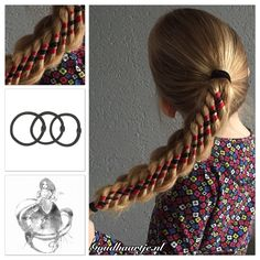 Stacked eight strand braid in a ponytail with three ribbons and a hairelastic from Goudhaartje.nl    #8strandbraid #ribbonbraid #ribbon #braid #braids #hairelastic #ponytail #hairideas #coolhair  #hair #hairstyle #hairinspiration #hairaccessories #haar #vlecht #haarstijl #haaraccessoires #haarelastiek #staart #paardenstaart #beautifulhair #longhair #mooihaar #langhaar #goudhaartje #stackedbraid