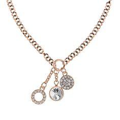 SNÖ Of Sweden - Crash Pendant Necklace 42 Rose Clear - 574-0601255 Jewelry Branding, Sweden, Pendant Necklace, Rose, Gifts, Shopping, Pink, Presents, Favors