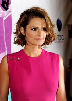 More Pics of Stana Katic Curled Out Bob (2 of 6) - Curled Out Bob Lookbook - StyleBistro