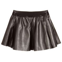 Guess Black Vinyl Skater Skirt at Childrensalon.com