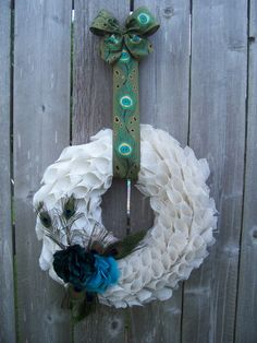 Peacock wreath by LayMazingCreations