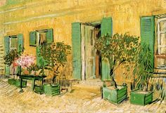 Vincent van Gogh.  Exterior of a Restaurant at Asnieres