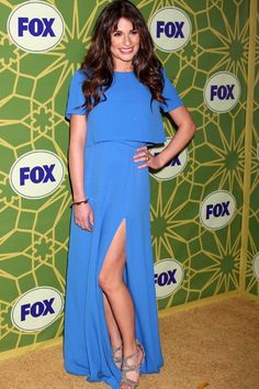Glee girl Lea Michele at Fox All-Star Party