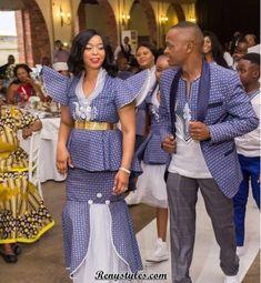 Newest Shweshwe Designs South African 2019 Shweshwe Dresses, African Maxi Dresses, Wedding Dresses South Africa, African Lace Styles, Ankara Styles, African Shirts For Men, Wedding Dress Patterns, African Traditional Dresses, African Fashion