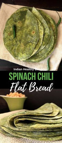 Welcome to Simple Sumptuous Cooking, a vegan cooking blog! Here's a quick recipe for Spinach Chili Flat Bread - Spinach Chapathi.
