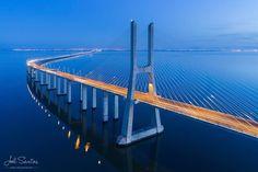 Vasco da Gama Bridge Lisbon Portugal. (C) Joel Santos - www.joelsantos.net