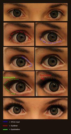 10 makeup tutorials to draw anime eyes cosplay-make . - 10 make up tutorials to draw anime eyes Cosplay make-up © JackyChip. If you use Devian - Anime Eye Makeup, Eye Makeup Art, Makeup Tips, Beauty Makeup, Makeup Brush, Makeup Products, Diy Beauty, Makeup Ideas, Weird Makeup
