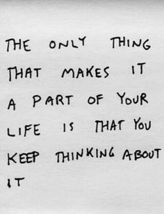 ....so never stop thinking about it! Recurring dreams and little actions each day go a long way :)