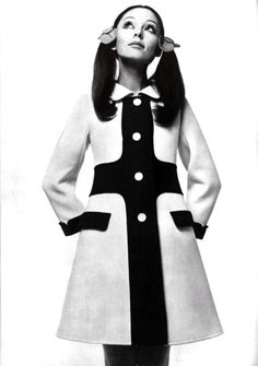 1960's fashion courreges coat