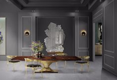 7 Wooden Dining Room Tables That Steals The Show | dining room tables,dining room ideas,dining room design | #diningroomdecor #diningroomdecoration #diningroomdecoratingideas      See more: http://diningroomideas.eu/wooden-dining-room-tables-steals/