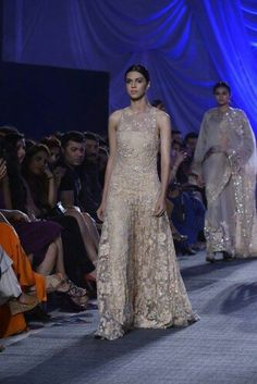 A richly embellished gown by at Arjun Kapoor, Embellished Gown, Manish Malhotra, Jacqueline Fernandez, Indian Designer Outfits, Lakme Fashion Week, Bollywood Stars, Gowns, Formal Dresses