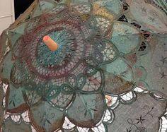 steampunk de parasol de encaje pintado a mano