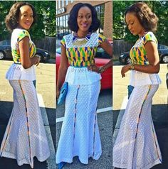 Kente with lace