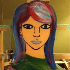 Glass painting ... Using glass from picture frames