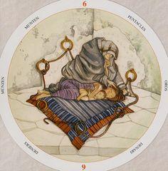 Six of Pentacles - Circle of Life Tarot by Maria Distefano