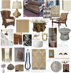 One Girls Style: Hawaiian home design board...inspired by interior of the Ralph Lauren store in Honolulu