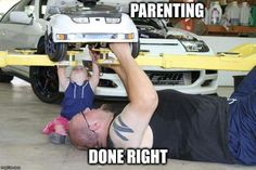 Parenting Done Right Truck Memes, Funny Car Memes, Car Humor, Hilarious, R35 Gtr, Foto Top, Mechanic Humor, Parenting Done Right, Parenting Memes