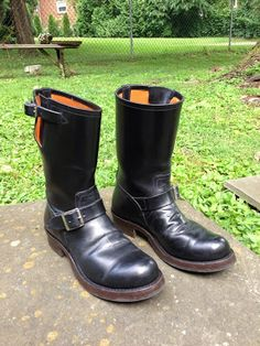 Vintage Engineer / Motorcycle Boots, vintage leather, vintage biker images, vintage clothing, miscellaneous vintage and whatever else interests me. Vintage Biker, Vintage Leather, Leather Men, Leather Shoes, Tall Boots, Shoe Boots, Men's Boots, Fashion Boots, Mens Fashion