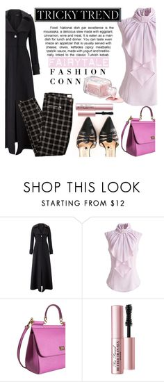 """""""Romance Still Alive"""" by clotheshawg ❤ liked on Polyvore featuring Dolce&Gabbana, Hervé Léger, Too Faced Cosmetics, women's clothing, women's fashion, women, female, woman, misses and juniors"""